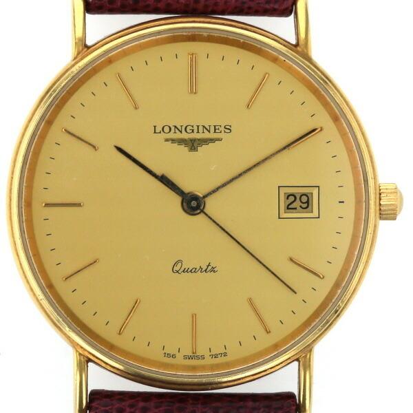 Longines LONGINES Date Solid Gold K18 YG Quartz Dial Men's Watch