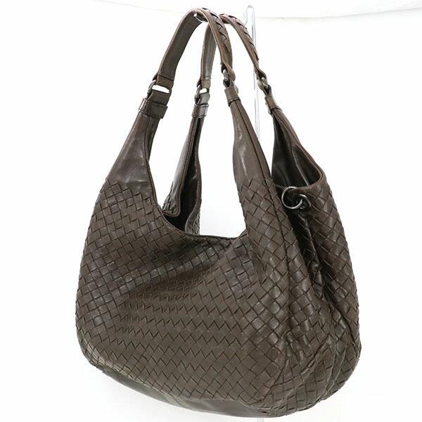 Bottega Veneta BOTTEGA VENETA Intrecciato Dark brown leather semi-shoulder bag 125787
