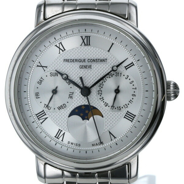 Frederique Constant FREDERIQUE CONSTANT Moon Phase Quartz Silver Dial Men's Watch