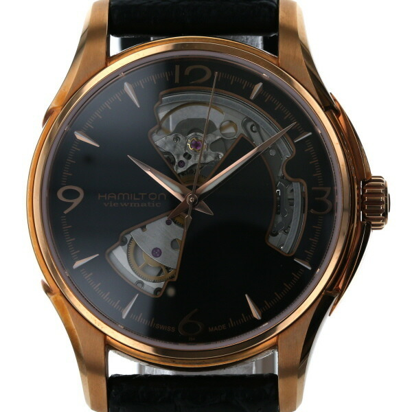 Hamilton HAMILTON Jazzmaster Open Heart H32575135 Self-winding Black Dial Men's Watch