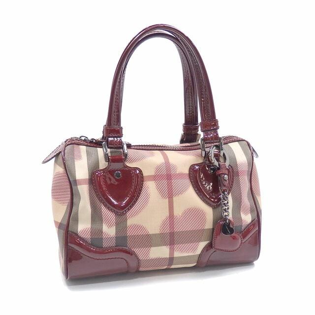 Burberry Handbags Women's Beige Bordeaux PVC Leather ROSCROM215CRA