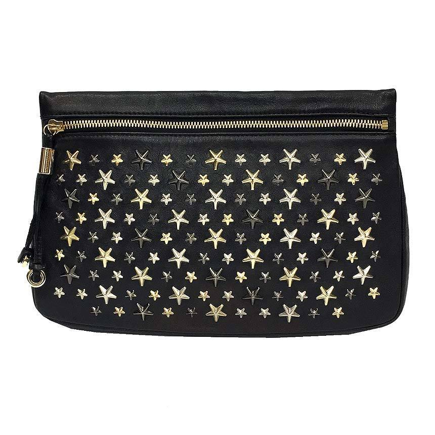 JIMMY CHOO Clutch bag ZENA LTR J000053482001 Star studs