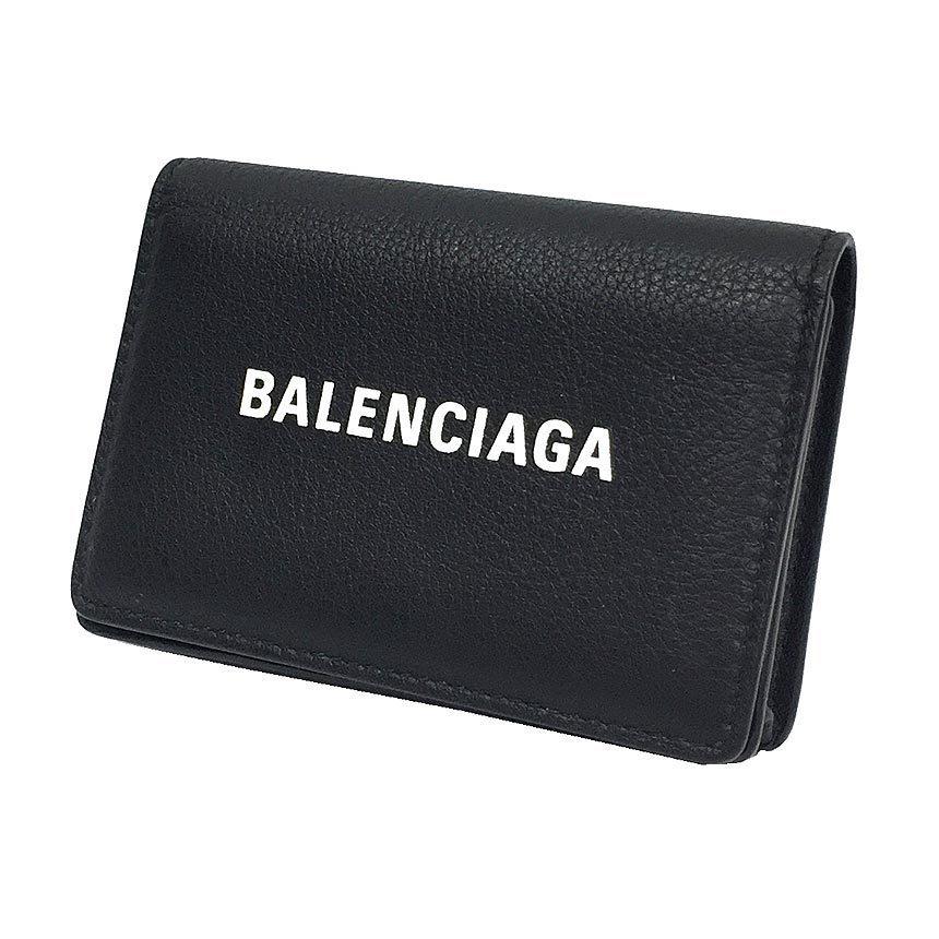 BALENCIAGA business card holder case EVERYDAY Everyday 531524 black leather