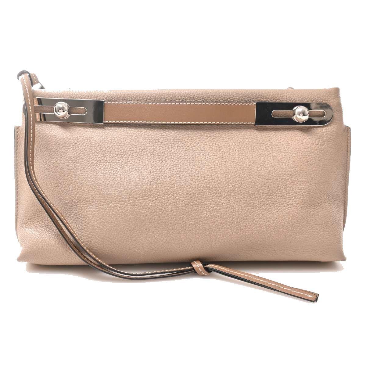 Loewe LOEWE Leather Missy Small 2WAY Shoulder Bag Beige