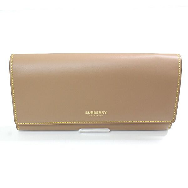 Burberry BURBERRY HALTON two-tone wallet 8036706 beige yellow leather
