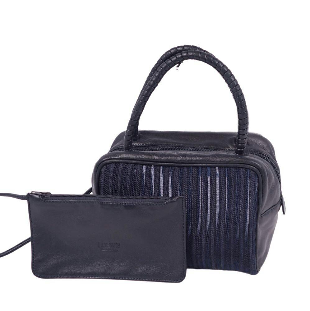 Loewe LOEWE mesh mini ladies striped leather navy
