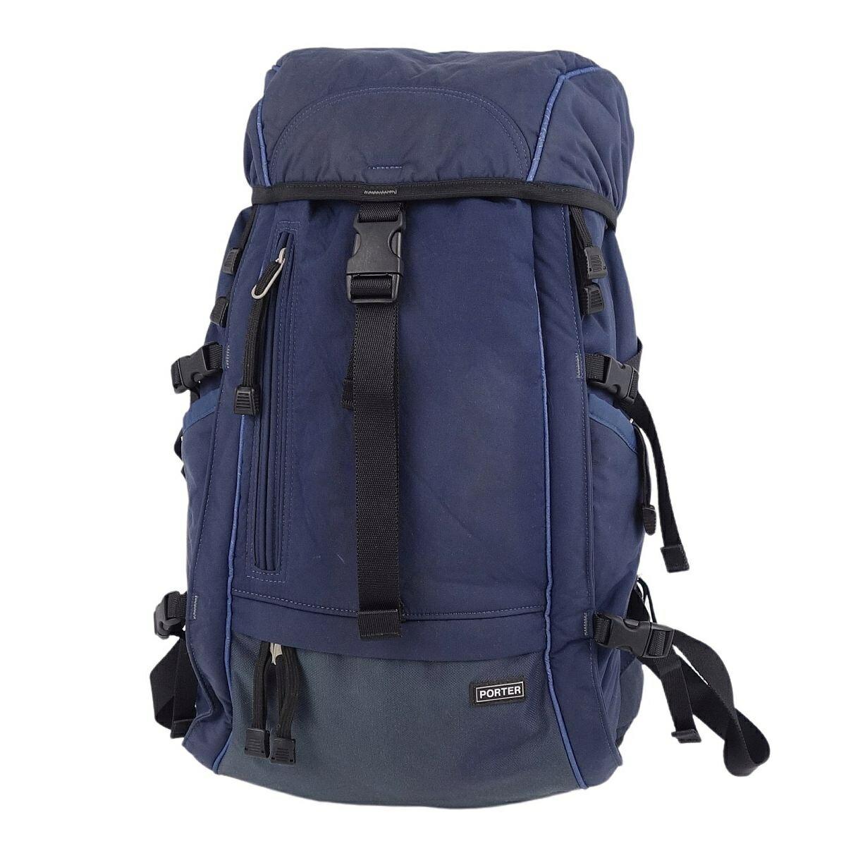 Porter PORTER nylon backpack rucksack daypack men's navy blue