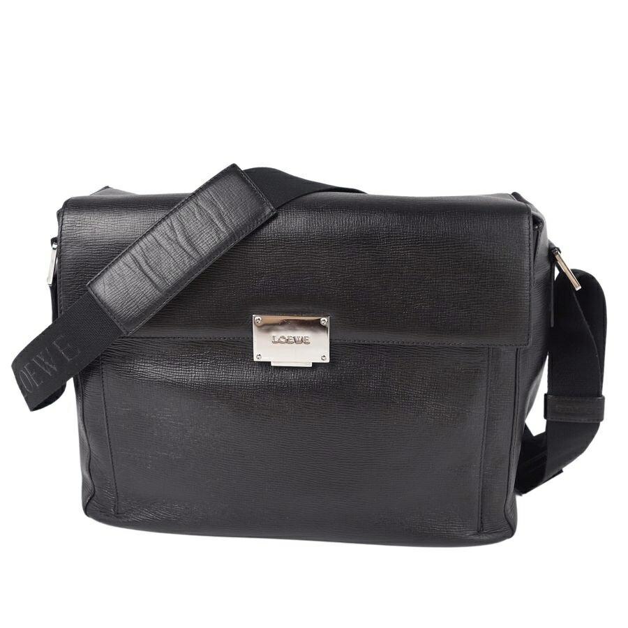 Loewe LOEWE Shoulder Crossbody Calf Leather Women's Black