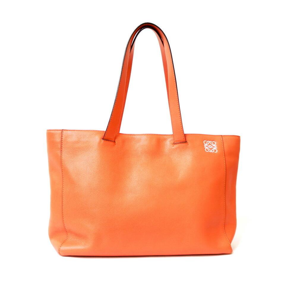 LOEWE Loewe Shoulder Bag Logo East Waist Shopper Tote Orange Ladies Leather