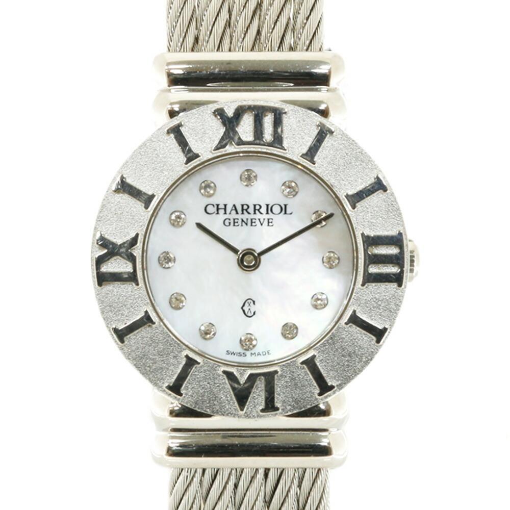 CHARRIOL SS Watch Saint-Tropez 028R Silver Ladies Stainless Steel