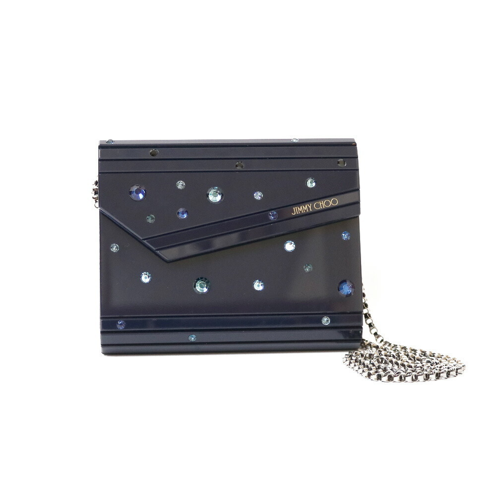 JIMMY CHOO Shoulder Bag-Bag Starry Sky Candy Navy Blue Ladies Acrylic Leather