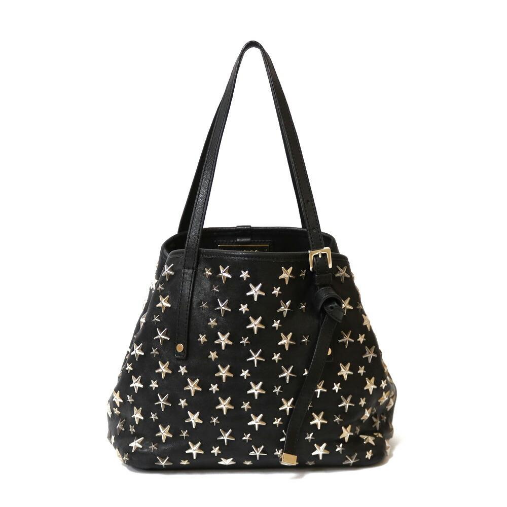 JIMMY CHOO Handbag Black Ladies Leather