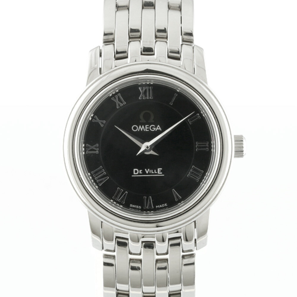 OMEGA Omega SS Watch DE VILLE 4570.52.00 Silver Black Ladies Stainless Steel