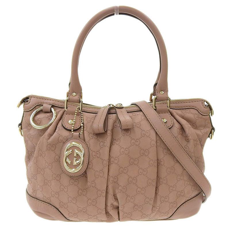 Gucci GUCCI Shima 2way bag hand shoulder leather pink 247902