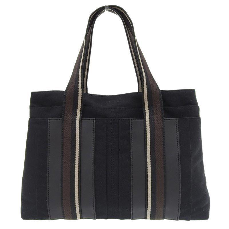 Hermes HERMES Troca Horizontal Handbag Canvas Black