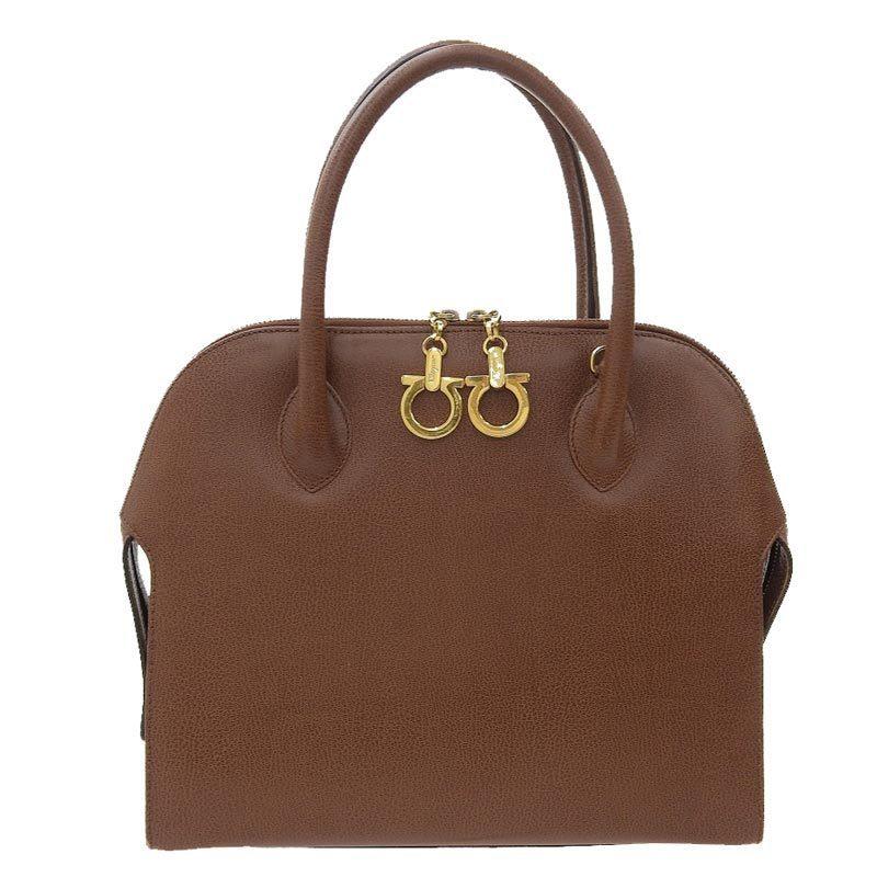 Salvatore Ferragamo Ferragamo Salvatore Gancio Handbag Leather Brown