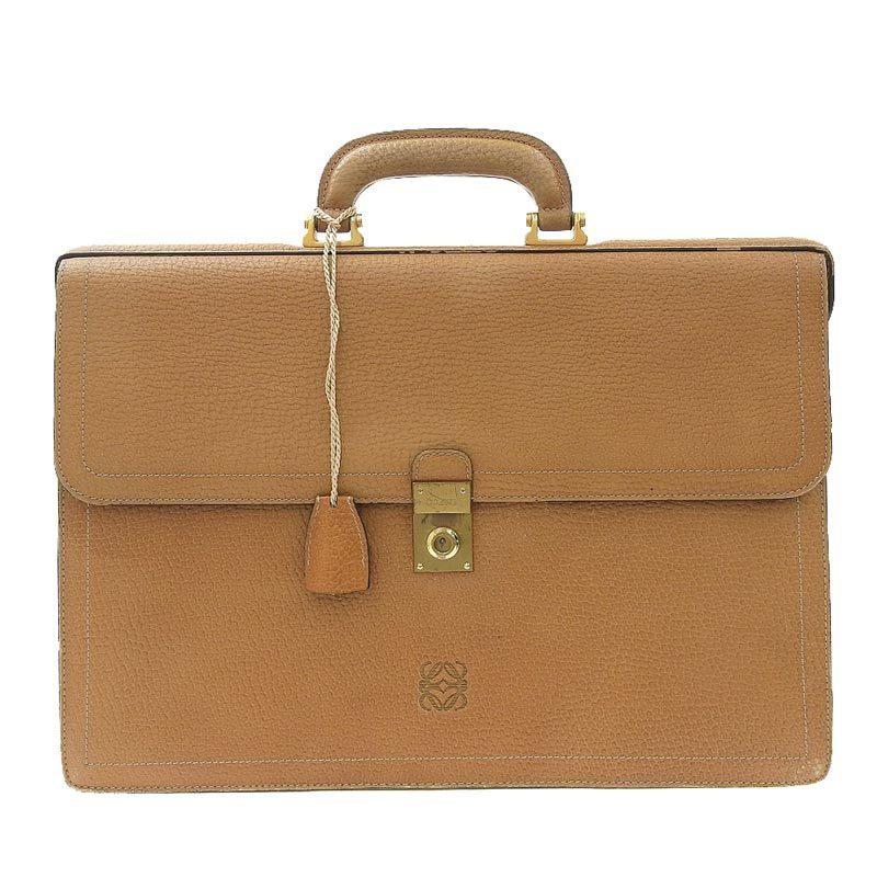 Loewe LOEWE bag leather beige gold metal fittings
