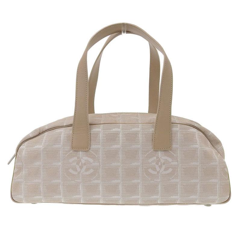 Chanel CHANEL New Travel Line Handbag Nylon Leather Beige 6s