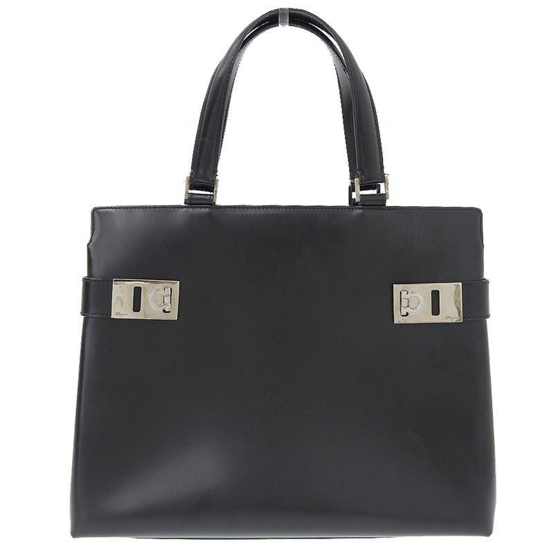 Salvatore Ferragamo Ferragamo Salvatore Gancio 2way bag leather black