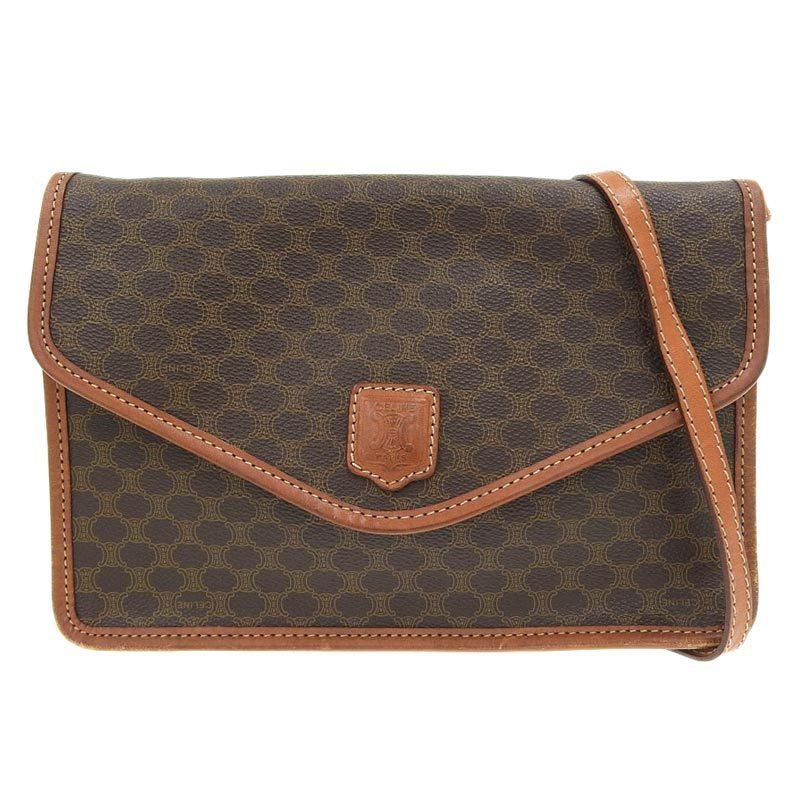 Celine CELINE Macadam 2way bag PVC leather brown