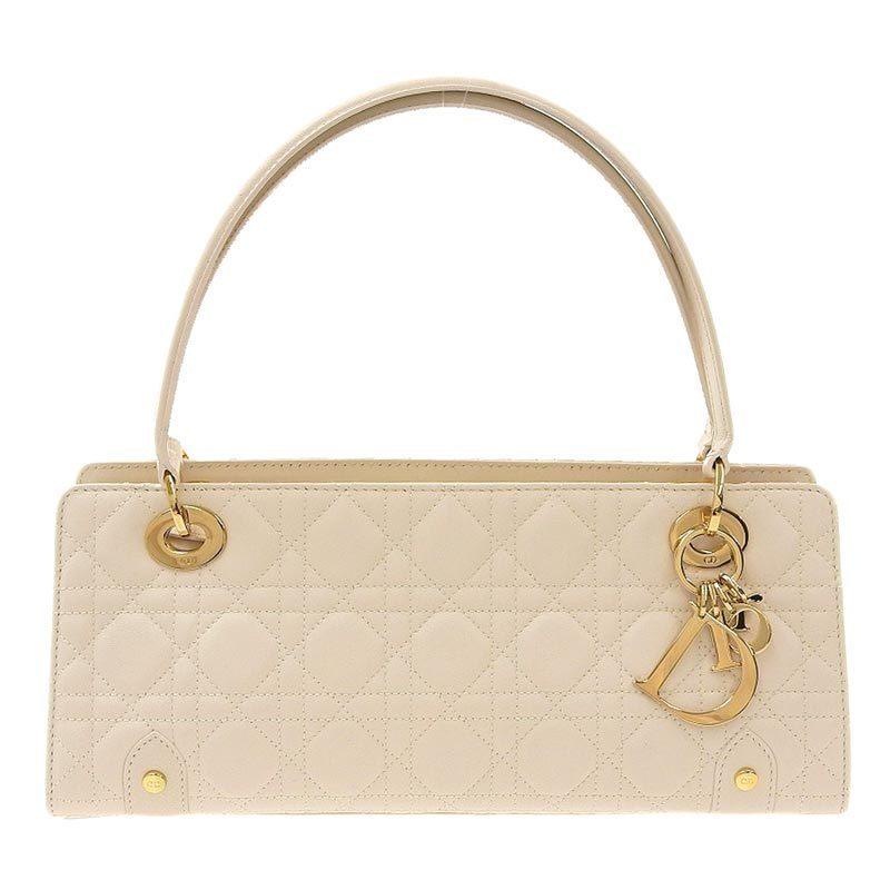 Christian Dior Lady Canage Handbag Leather