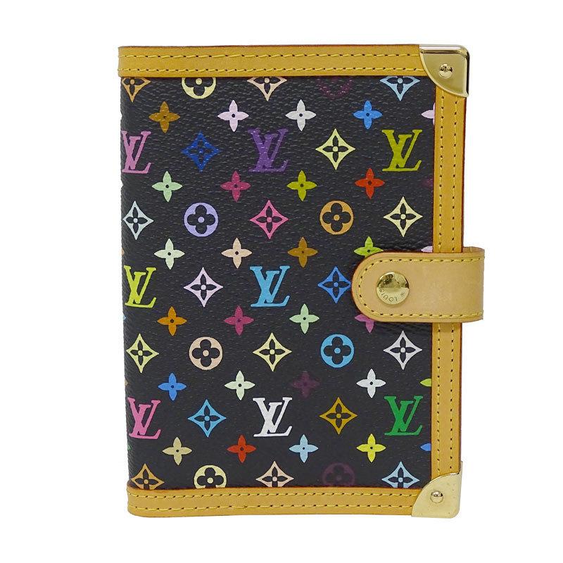 Louis Vuitton LOUIS VUITTON Monogram Multi Agenda PM Ladies Notebook Cover Leather Noir R20895 CA0034