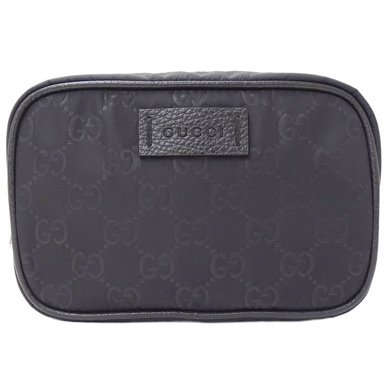 Gucci GUCCI GG Nylon Pouch Makeup Cosmetic Holder Ladies Black 510341