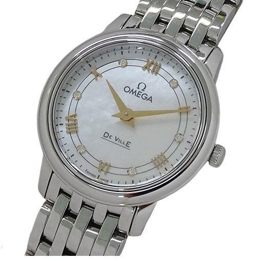 Omega OMEGA Watch 424.10.27.60.55.001 Devil Prestige 6P Diamond Shell Quartz Ladies Polished