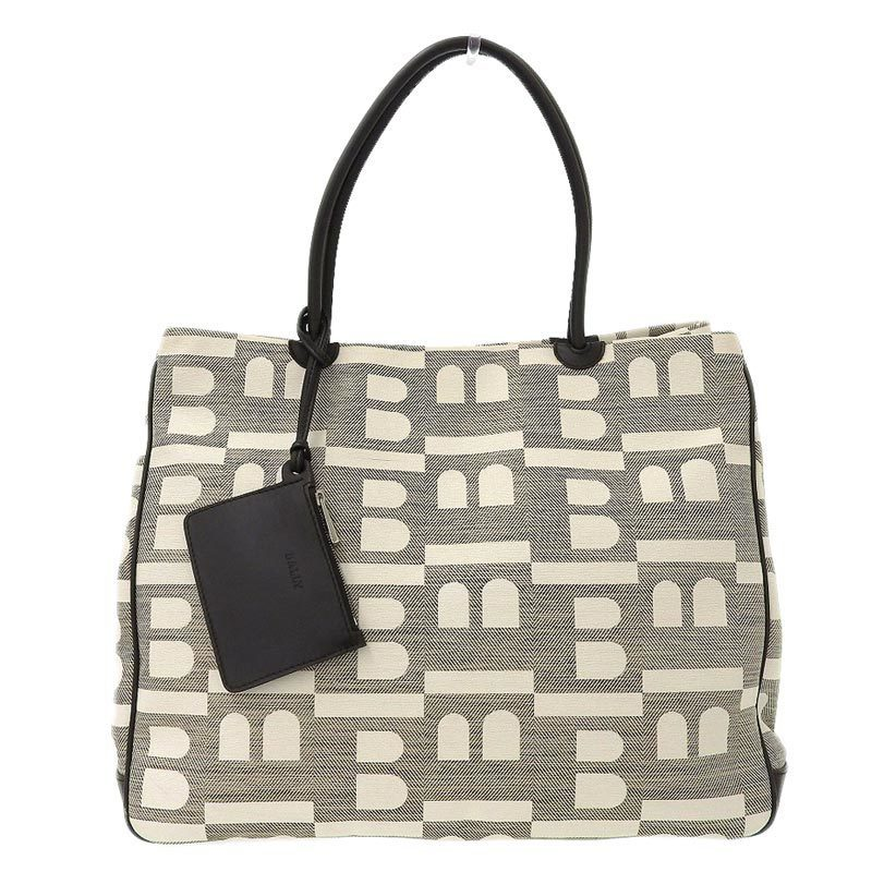 Bally BALLY Tote Bag Canvas Leather Brown