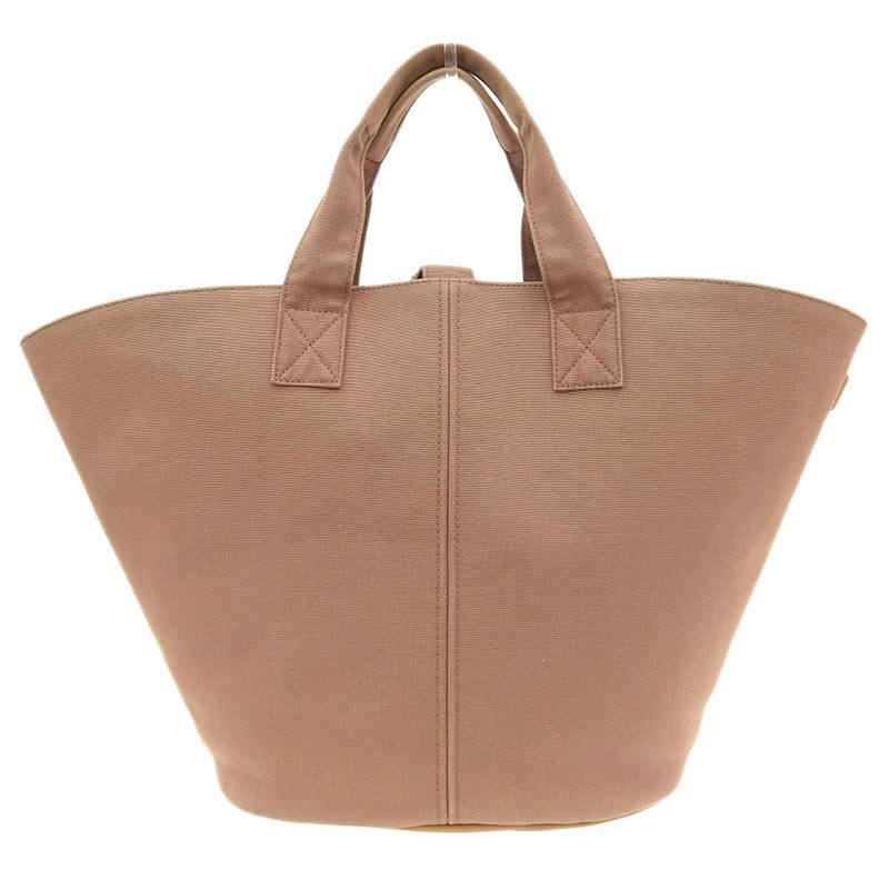 Hermes HERMES Pannier Plage PM Handbag Canvas Brown