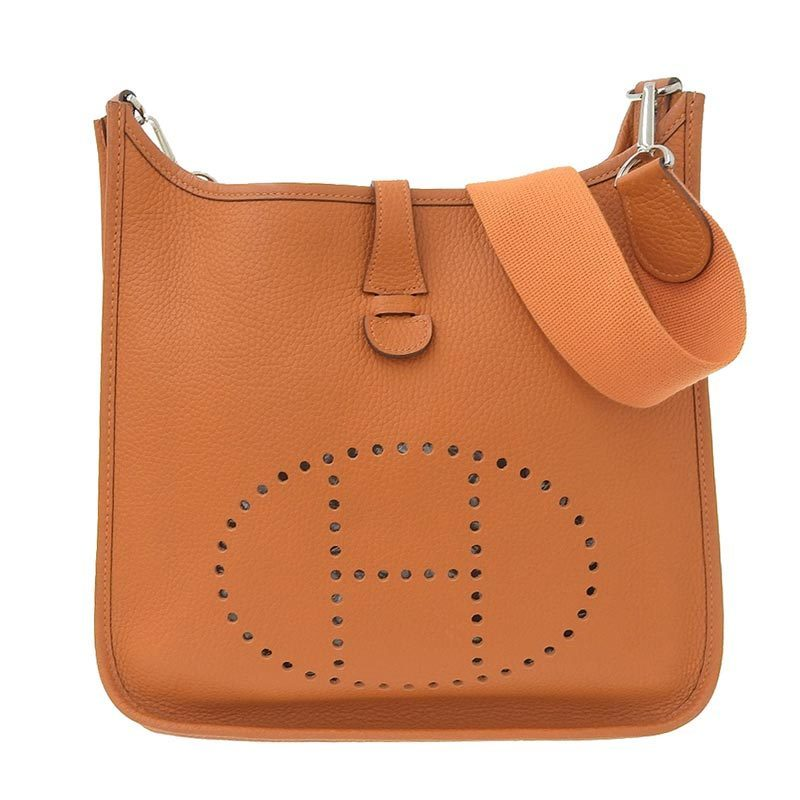 Hermes HERMES Evelyn 1 PM Shoulder Bag Togo Orange □ H engraved