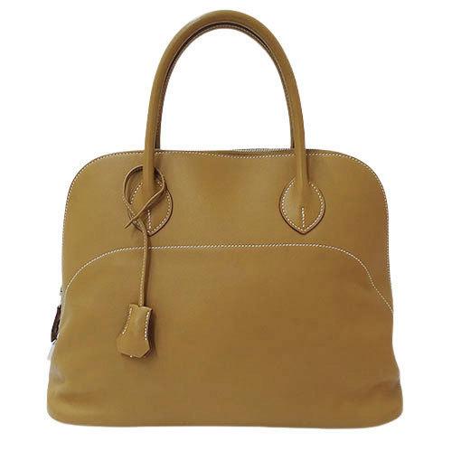 Hermes HERMES Handbag Bored Relax 35 Vosikkim Biscuit □ P 2012 Manufactured