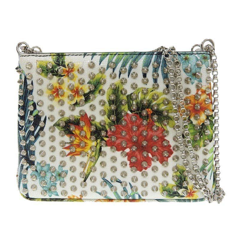 Christian Louboutin Chain Shoulder Bag Studs x Flower