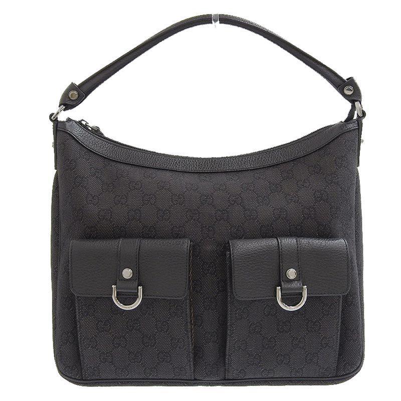 Gucci GUCCI GG canvas one shoulder bag black 293581