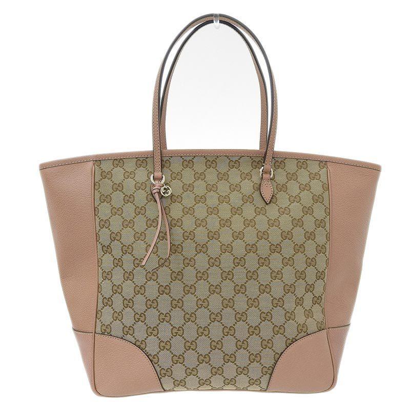 Gucci GUCCI GG canvas tote bag brown 323671
