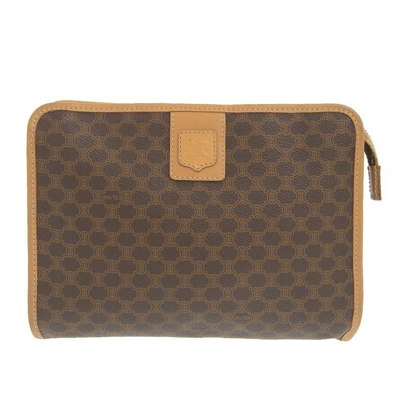 Celine CELINE Second Bag PVC Brown