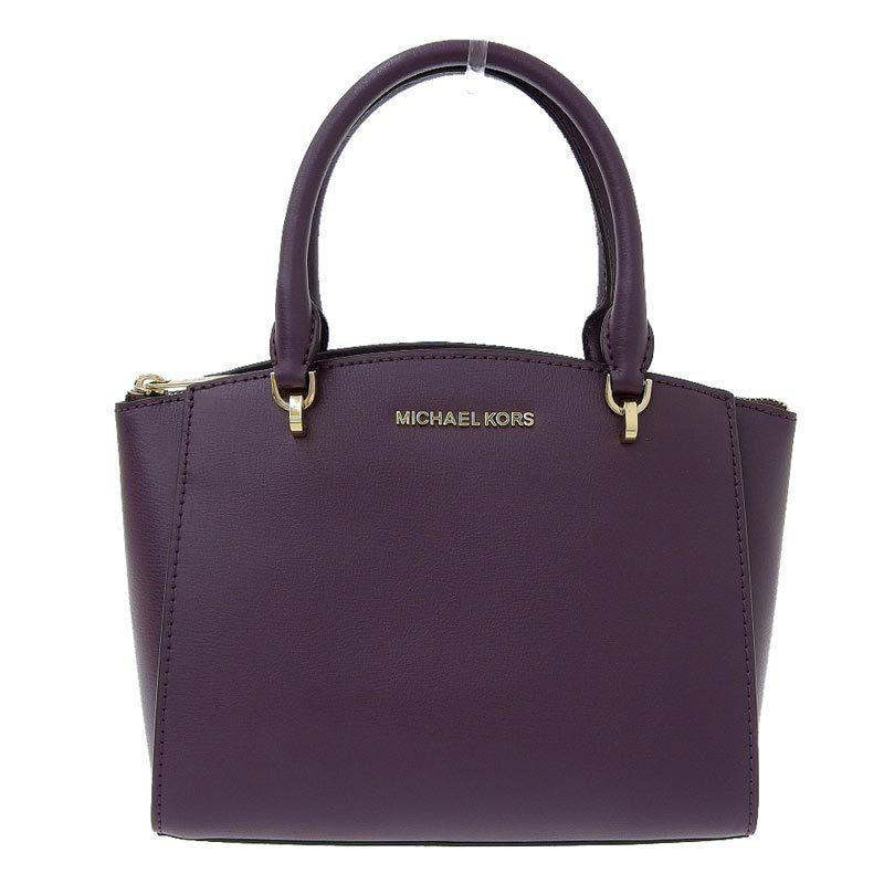 Michael Kors MICHAEL KORS 2way bag leather dark purple
