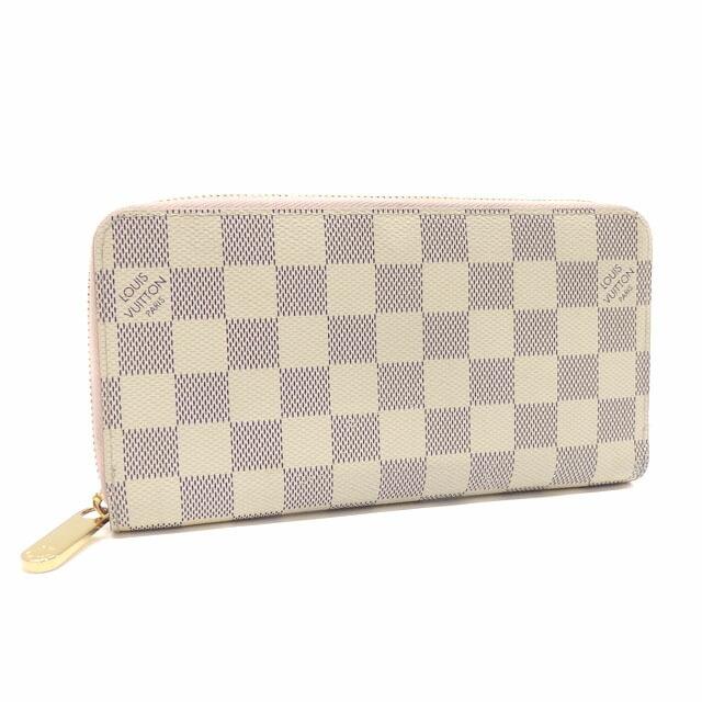 Louis Vuitton Round Purse Damier Azur Zippy Wallet Ladies N63503 Rose Ballerine