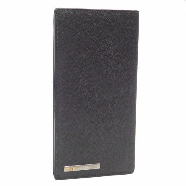 Cartier Bi-Fold Wallet Men's Black Leather