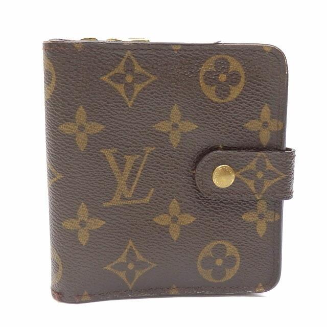 Louis Vuitton Bi-Fold Wallet Monogram Zip Ladies M61667