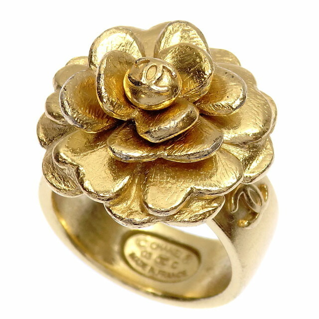 Chanel Camellia Ring Ladies GP No. 13 Gold Color 03C Flower