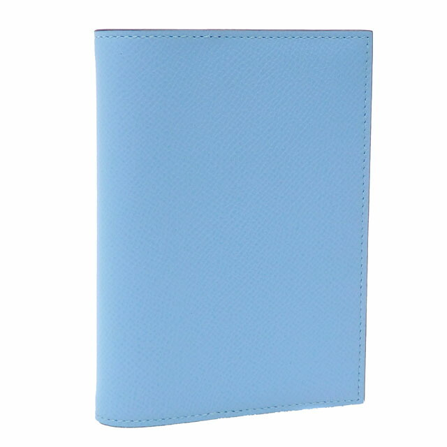 Hermes Agenda GM Notebook Cover Ladies Blue Atoll Vaux Epson A Engraved HERMES Leather