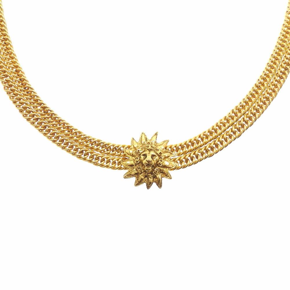 Chanel Lion Motif Necklace Ladies GP 2 Series