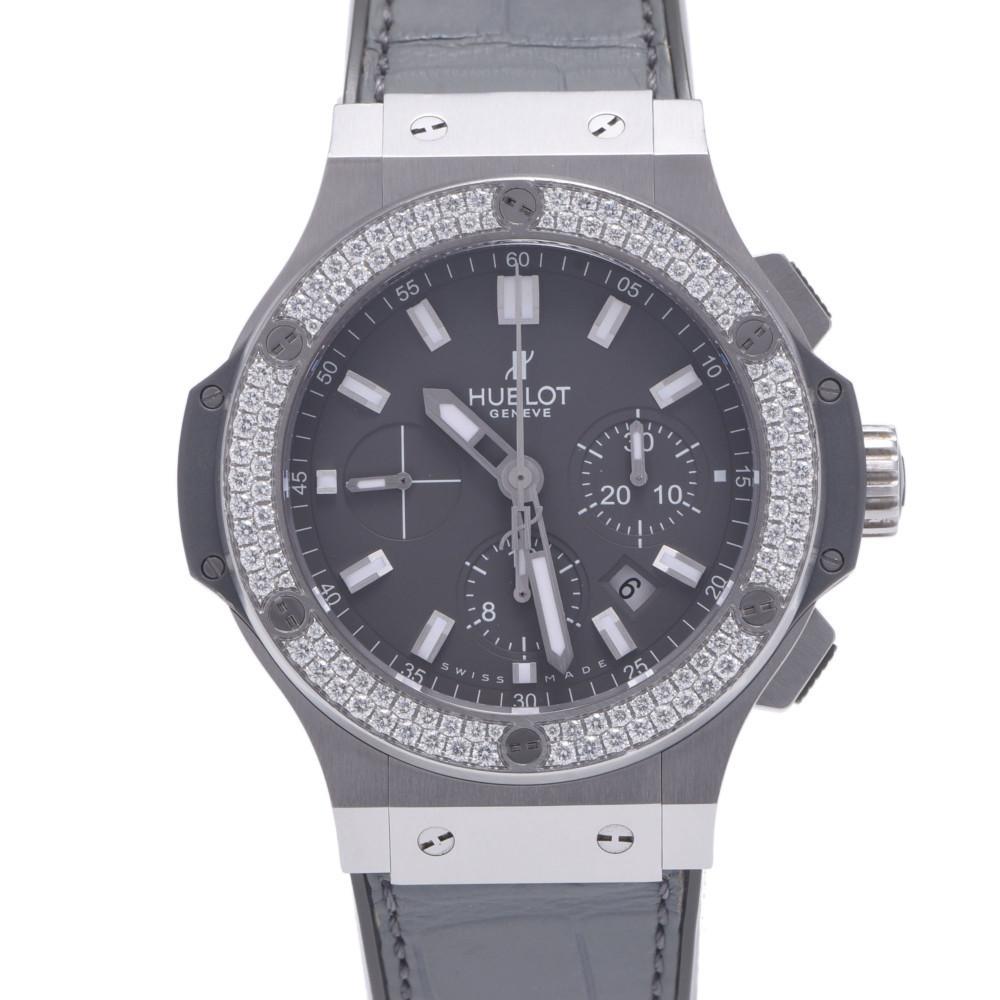 HUBLOT Hublot Big Bang Earl Gray Bezel Diamond 301.ST.5020.GR.1104 Men's Stainless Steel Rubber Wrist Watch Automatic Dial