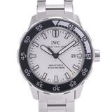 IWC SCHAFFHAUSEN Aquatimer IW356809 Men's Stainless Steel Rubber Watch Automatic White Dial