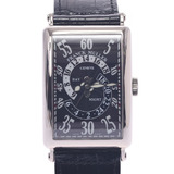 FRANCK MULLER Long Island Double Retrograde Hour 1250DHR Men's WG Leather Watch Automatic Black Dial