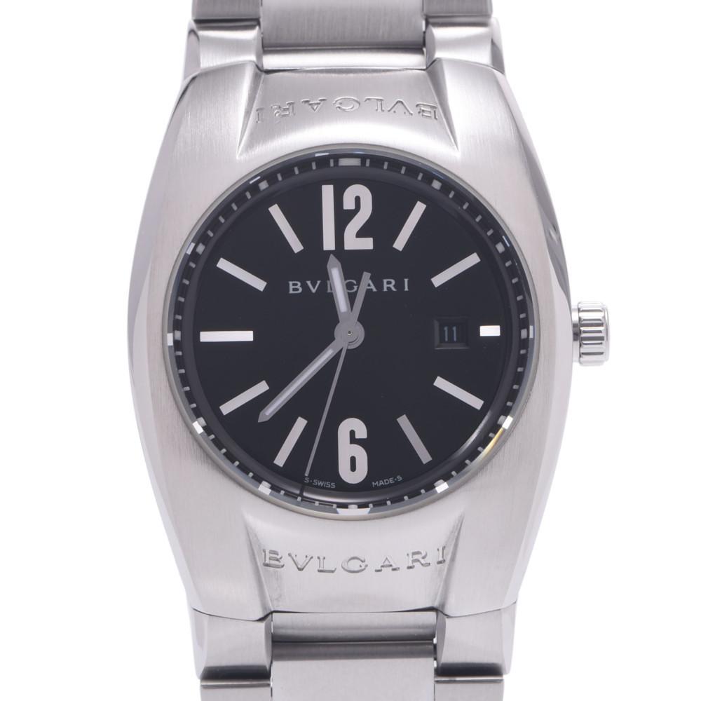 BVLGARI Bulgari Ergon EG30S Ladies Stainless Steel Watch Quartz Black Dial