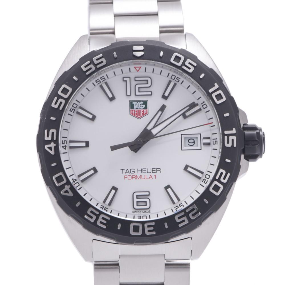 TAG HEUER Formula 1 WAZ1111.BA0857 Men's Stainless Steel Wrist Watch Quartz White Dial