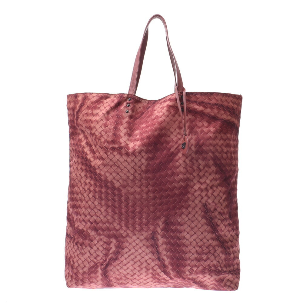 Bottega Veneta BOTTEGAVENETA Butterfly Pink Unisex Nylon Leather Tote Bag