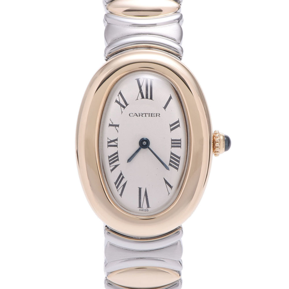 CARTIER Cartier Beniwar Ladies YG Stainless Steel Wrist Watch Quartz Ivory Dial